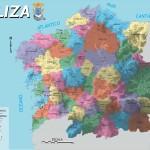 Mapa da Galiza. Desenho: Nós-UP.