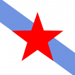 Bandeira da Galiza. Descarregar PDF vectorial.