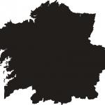 Silueta da Galiza. Descarregar PDF vectorial.